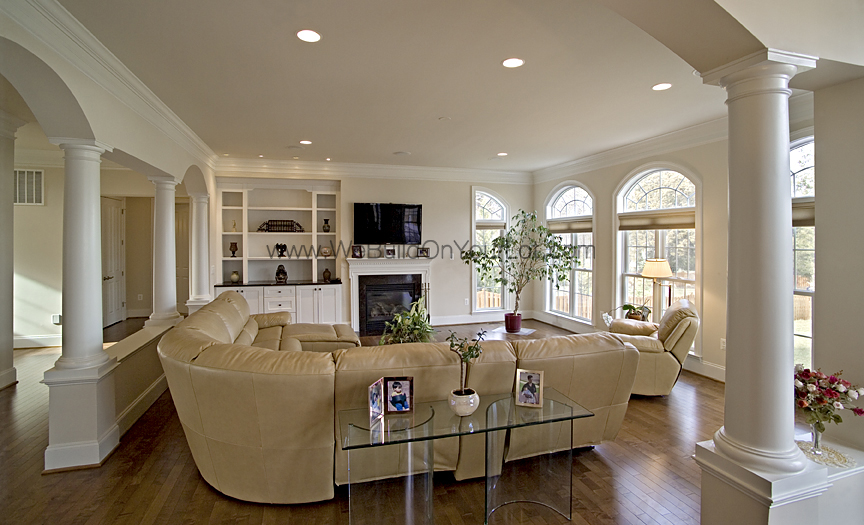Edgewater Living_Room_A | WE BUILD ON YOUR LOT | Stanley