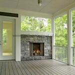 Stanley Martin Custom Homes | Westcott Deck with Fireplace