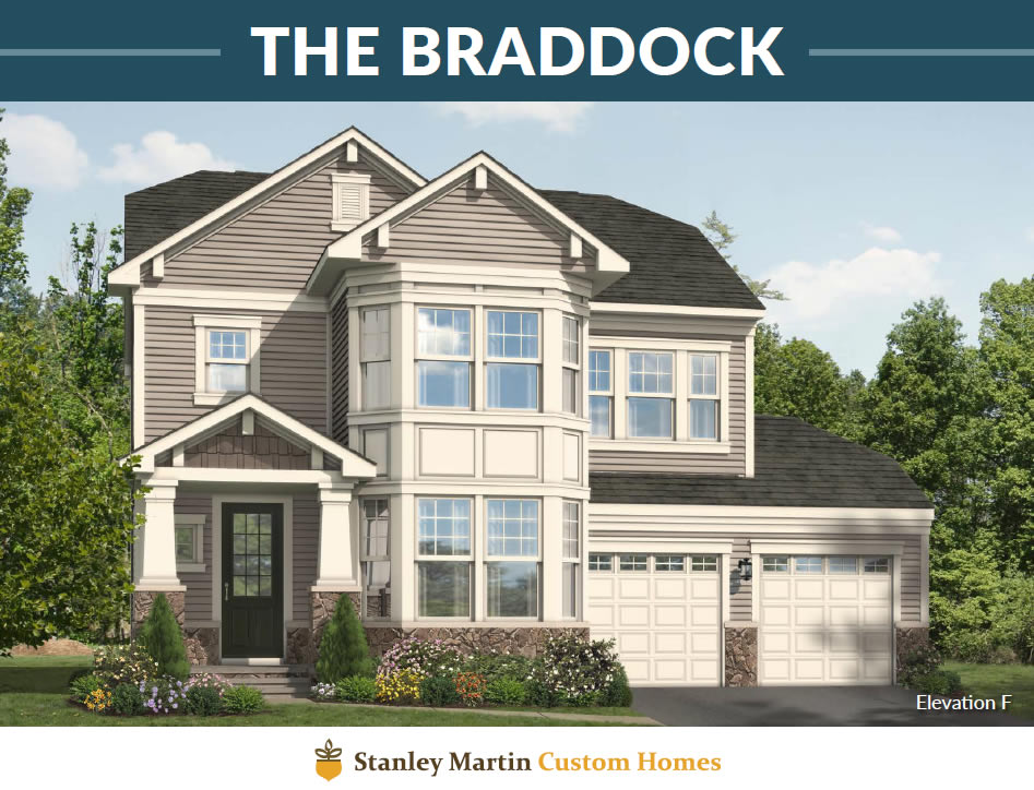Stanley Martin Homes on Your Lot   Braddock Model
