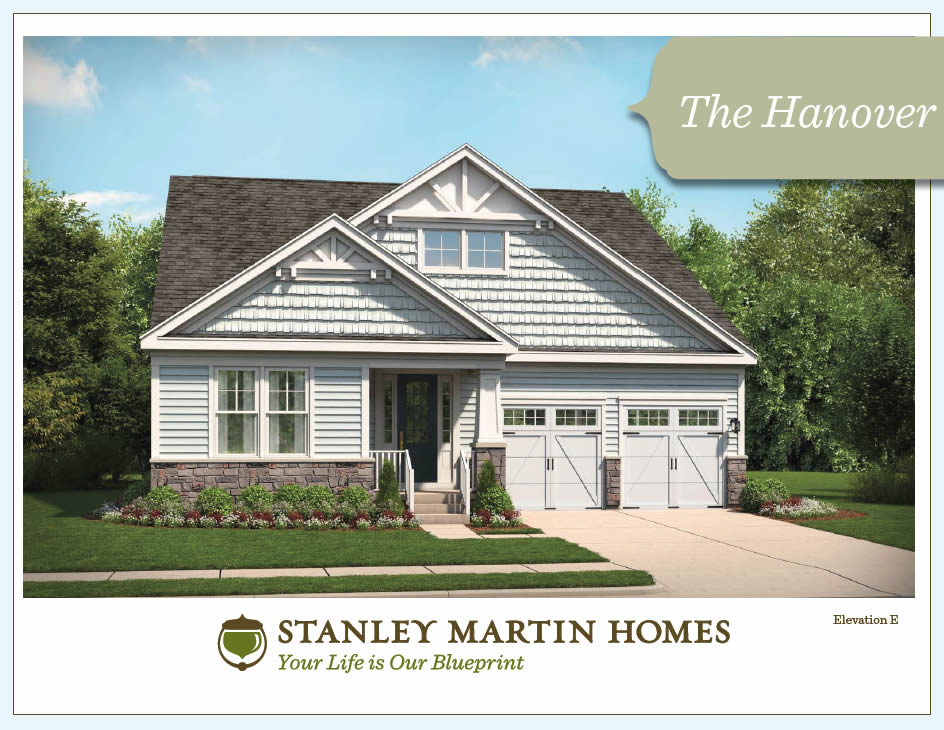 The hanover model we build on your lot stanley martin Building model homes