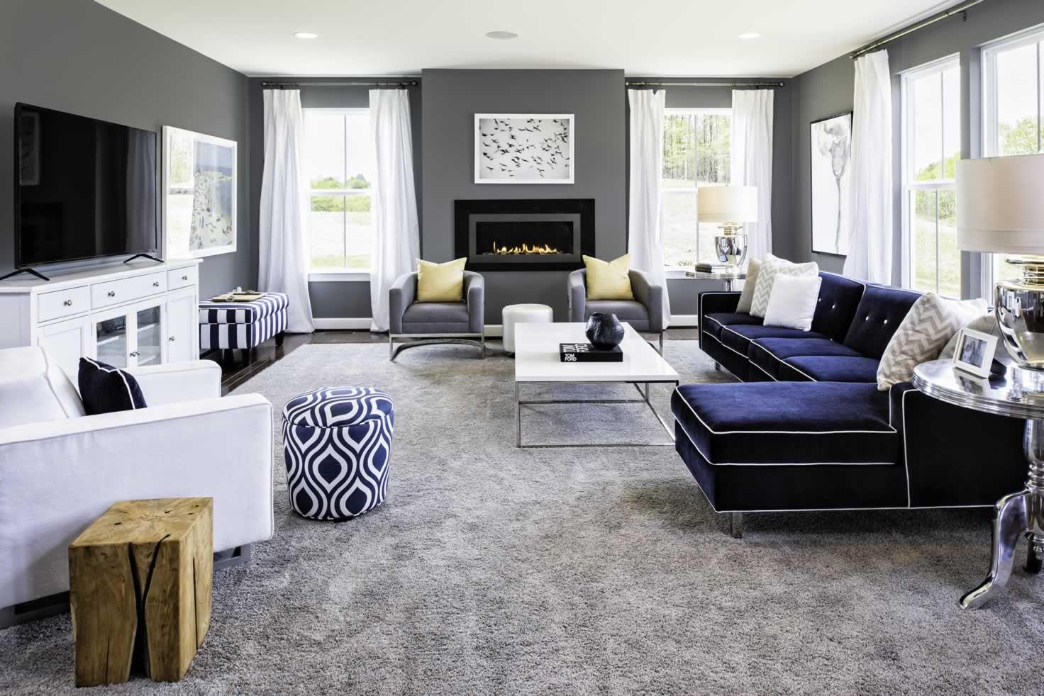 Stanley Martin Homes On Your Lot   Middleton Model Family room